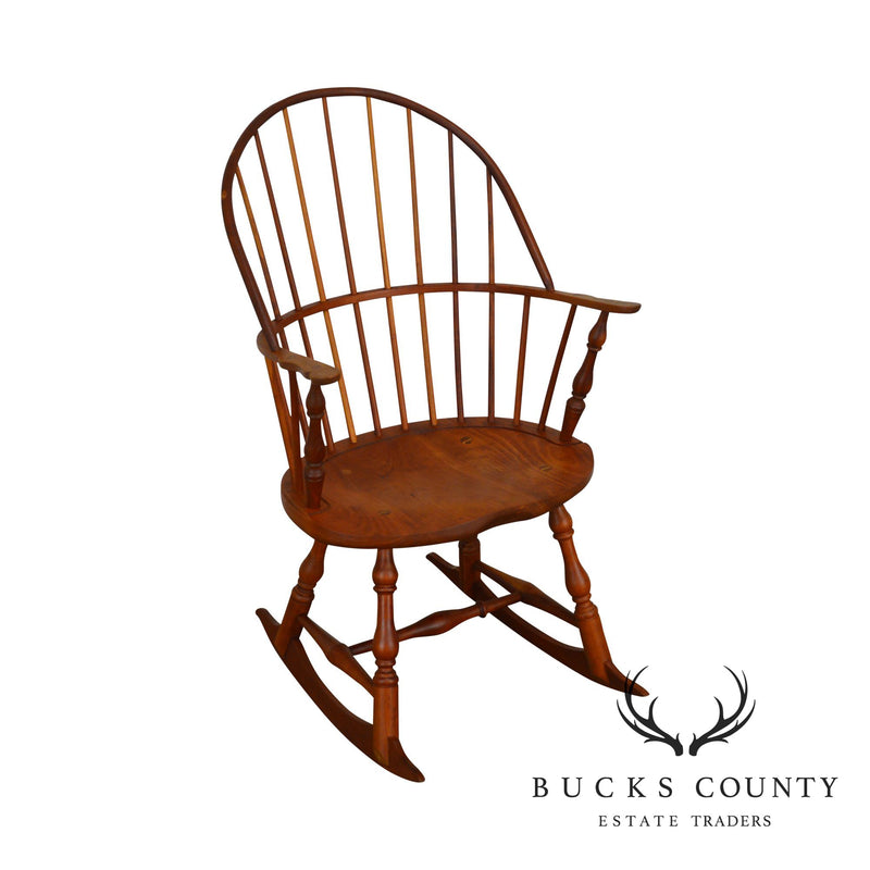 Martins Chair Shop Bench Made Solid Cherry Sackback Rocker (B)