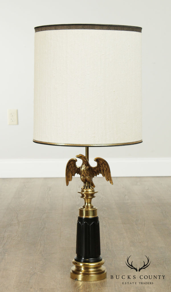 Stiffel Vintage Federal Style Brass American Eagle Table Lamp