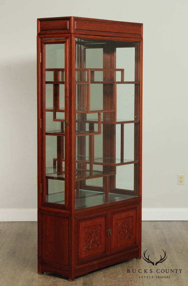 Chinese Rosewood Vintage Curio Display Cabinet