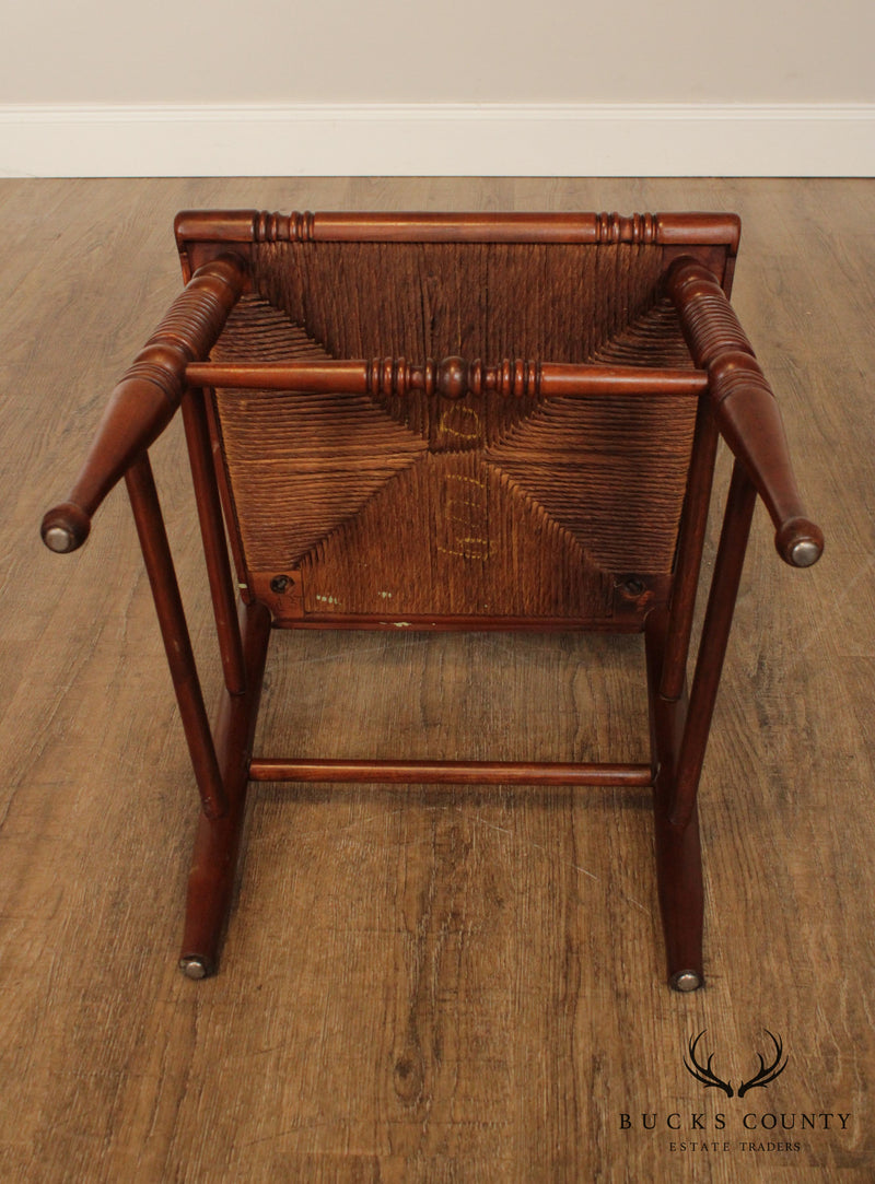 Vintage Federal Style Rush Seat Side Chair