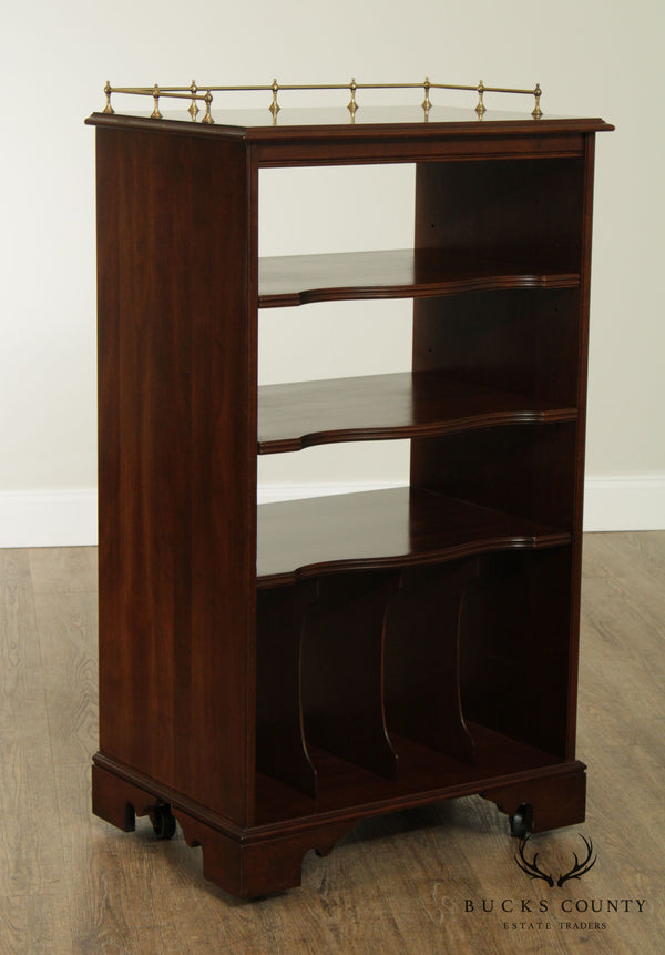 Ethan Allen Georgian Court Cherry Record Cabinet Bookcase
