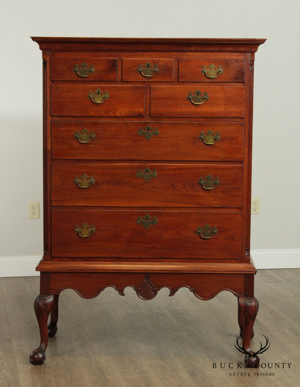 Antique American Chippendale Style 18th Century Walnut Chest on Frame