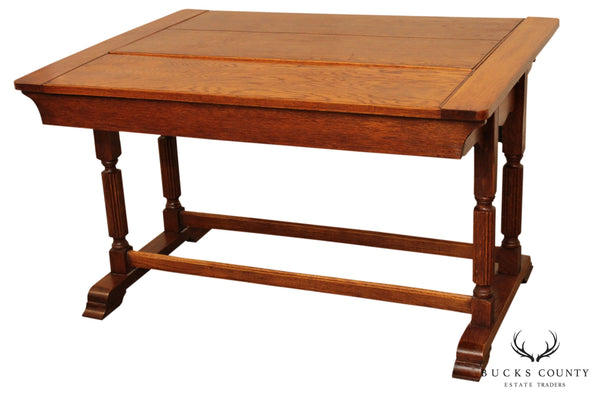 "The ""Adap Table Seat"" Metamorphic Oak Dining Table/Settee, C-1928"