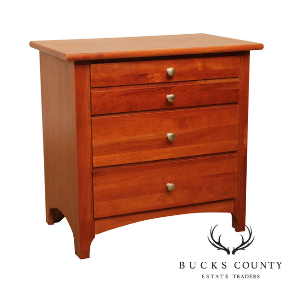 Stanley Shaker Style Cherry Chest Night Stand
