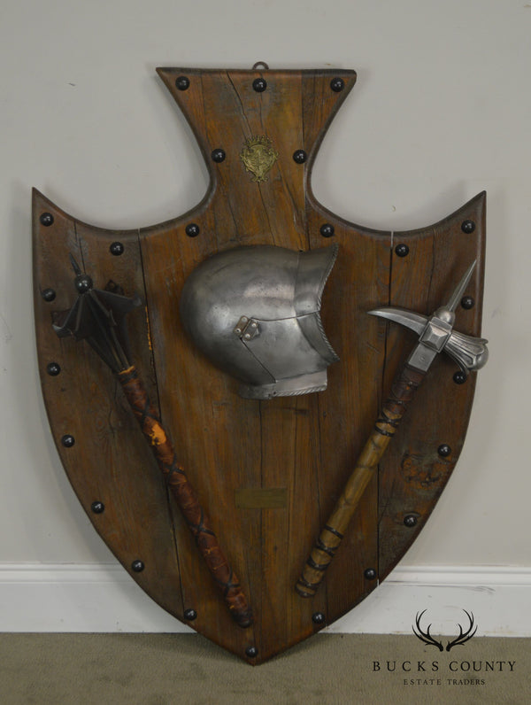 Vintage Italian Shield Wall Plaque Weapons Armies of the Medici XVI Century