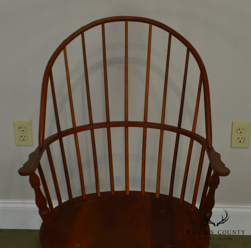 Martin's Chair Shop Inc. bench Made Solid Cherry Sackback Pair of Windsor Chairs (F)