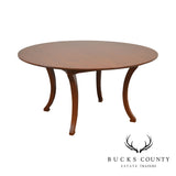 "Wright Table Company 60"" Round Cherry Dining Table with Leaf"