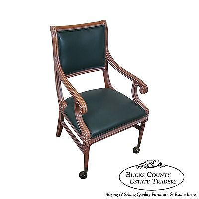 Quality Regency Directoire Style Open Office Arm Chair