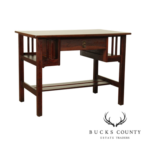 Stickley Brothers Antique Mission Oak Desk with Bookcase Sides