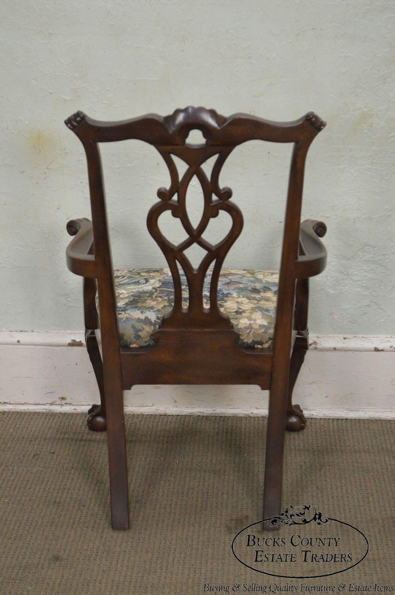 Henredon Rittenhouse Square 8 Set Mahogany Chippendale Ball & Claw Dining Chairs