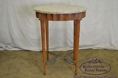 Awesome Quality Regency Style Round High Top Table W 2 Swivel Leather Stools Inzonedesignstudio Interior Chair Design Inzonedesignstudiocom