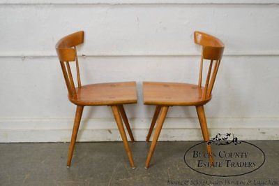 Paul Mccobb Planner Group Set Of 4 Spindle Back Dining Chairs