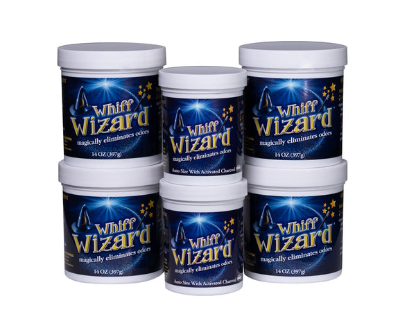 Whiff Wizard Odor Neutralizer with Activated Charcoal Home and Auto Pack