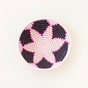Mini Plateau Basket-White and Black