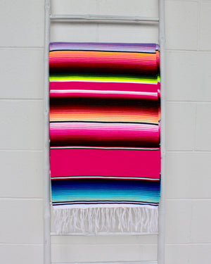 Mexican Serape Blanket-Rose