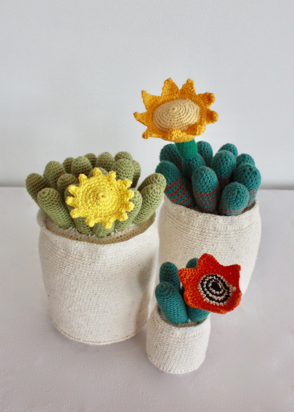 Flowering Crochet Cactus-Orange Star Flower