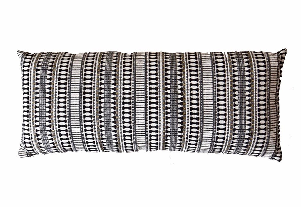 Black & Gold Etoie Lumbar Cushion