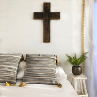 Gold Tassel Cushion