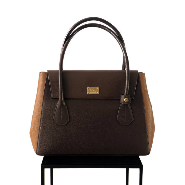 VALENTINA Chocolate Brown Leather
