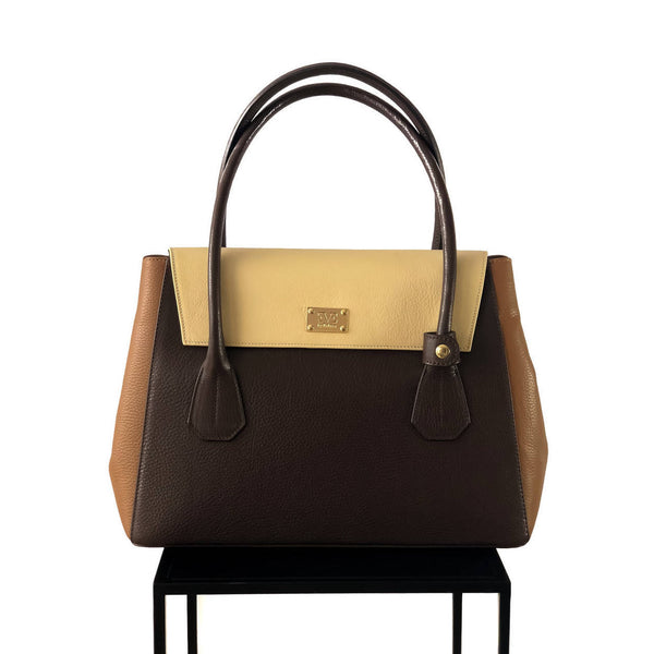VALENTINA Chocolate Brown satchel