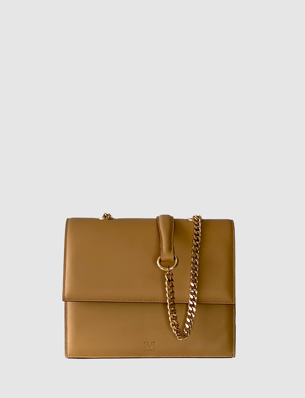 HARPER beige leather multi-wearable bag