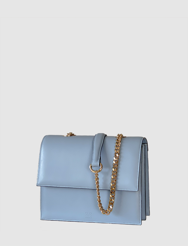 HARPER blue leather multi-wearable bag