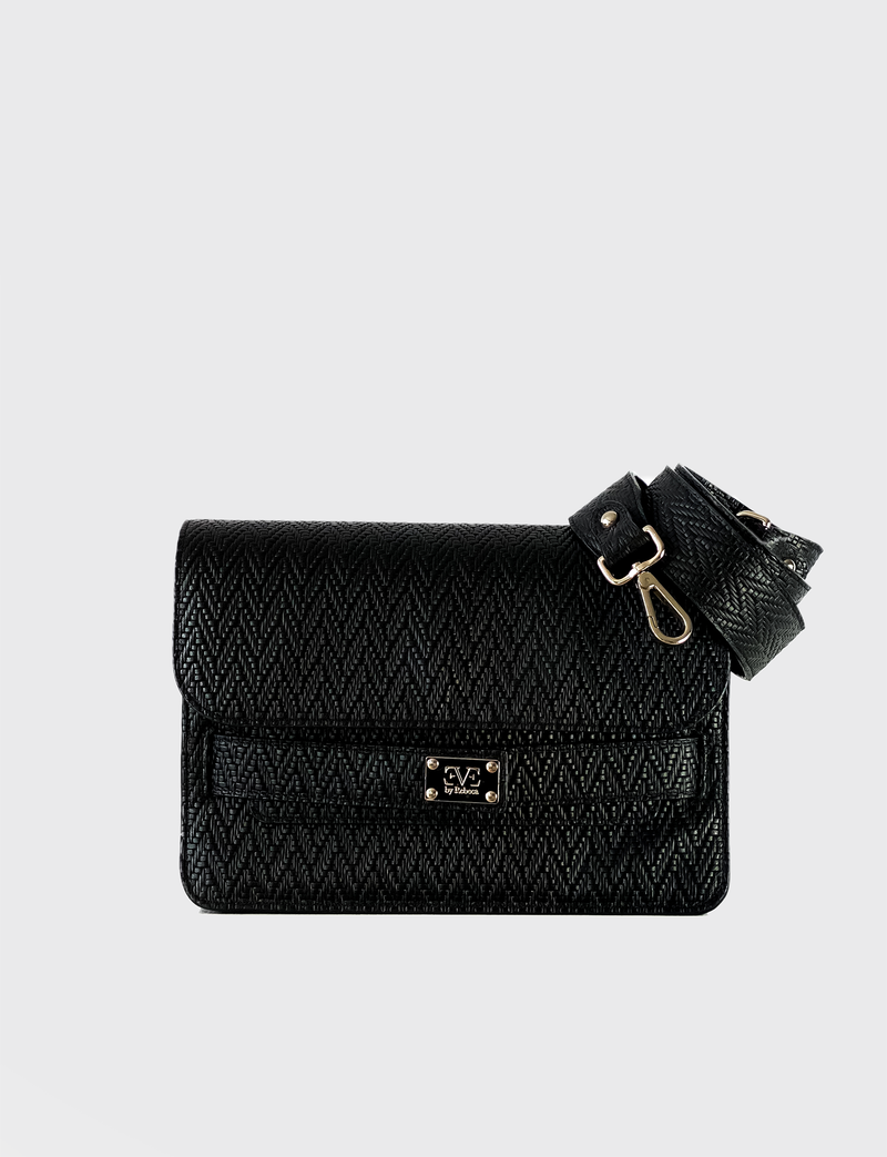 IVY Black leather shoulderbag