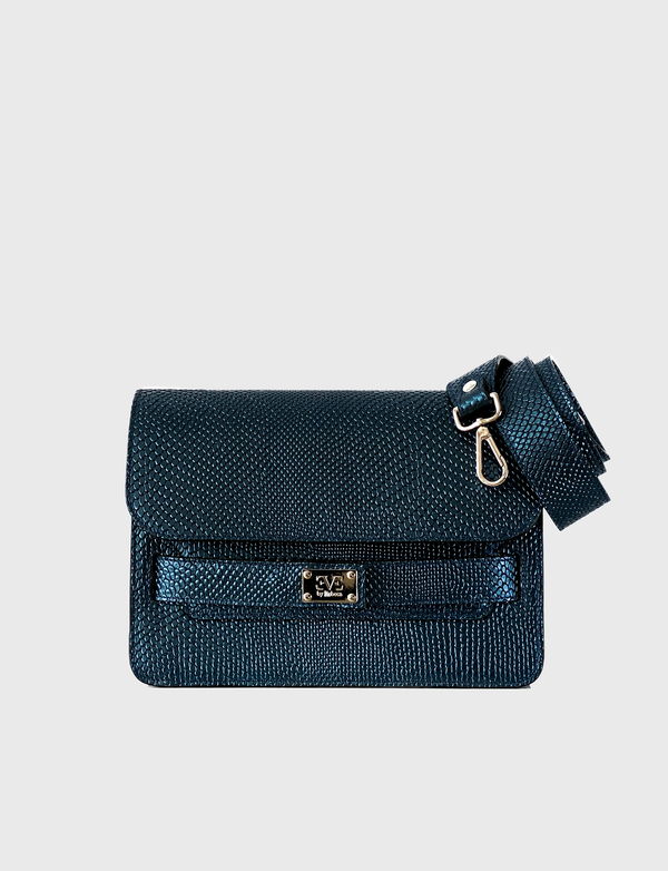 leather blue shoulderbag