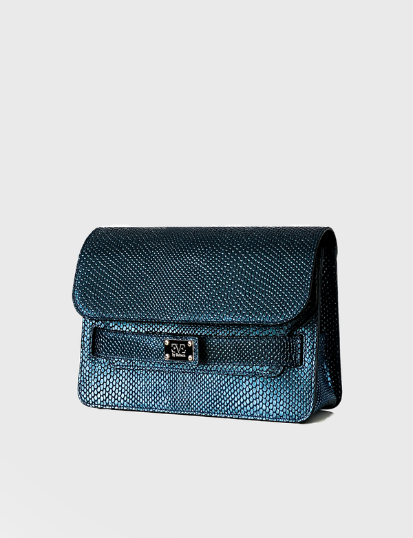 IVY blue leather shoulderbag