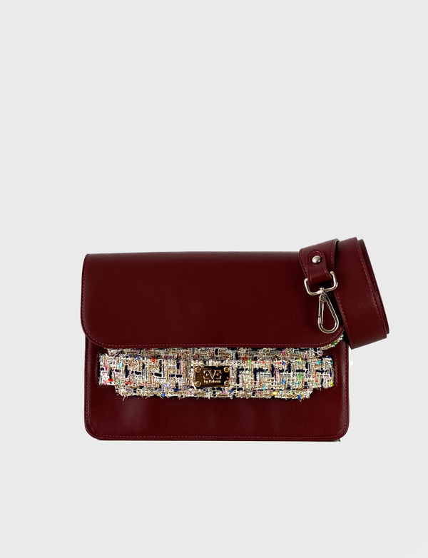 leather shoulderbag bordeaux