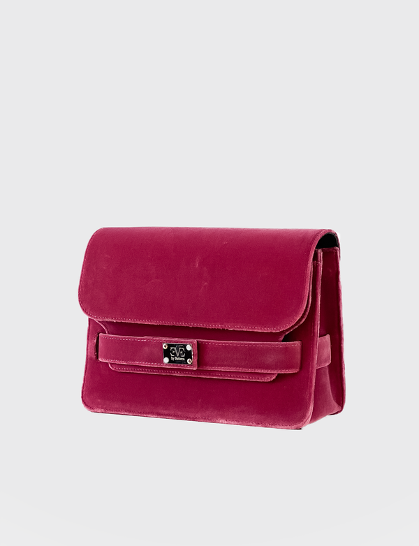 IVY Velvet pink shoulderbag