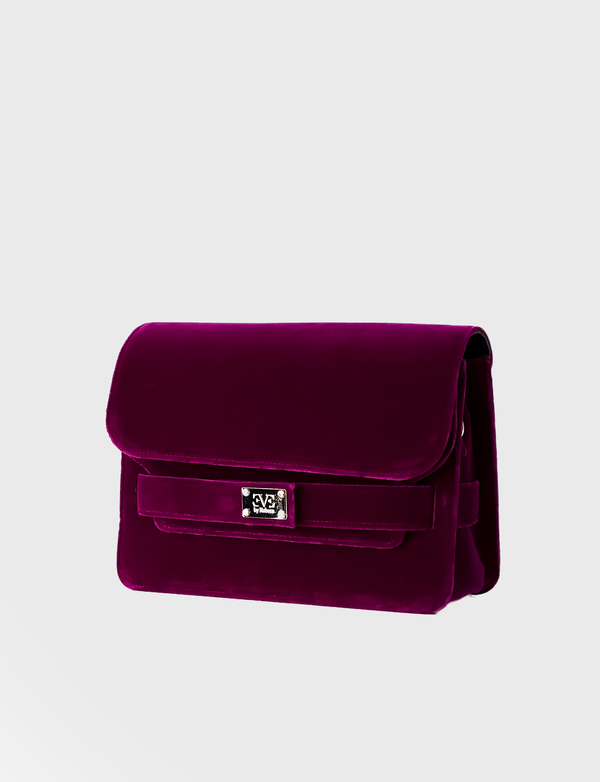 EVE THE LABEL pink velvet shoulderbag