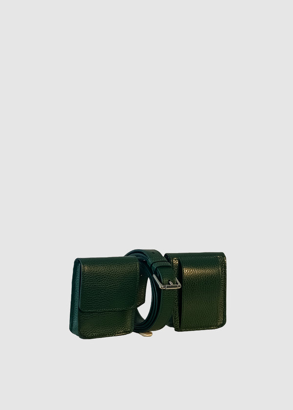 LAUREN Green Leather set
