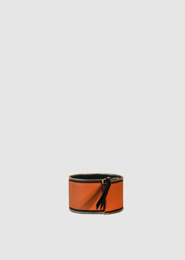 PIPER Orange Anaconda Leather