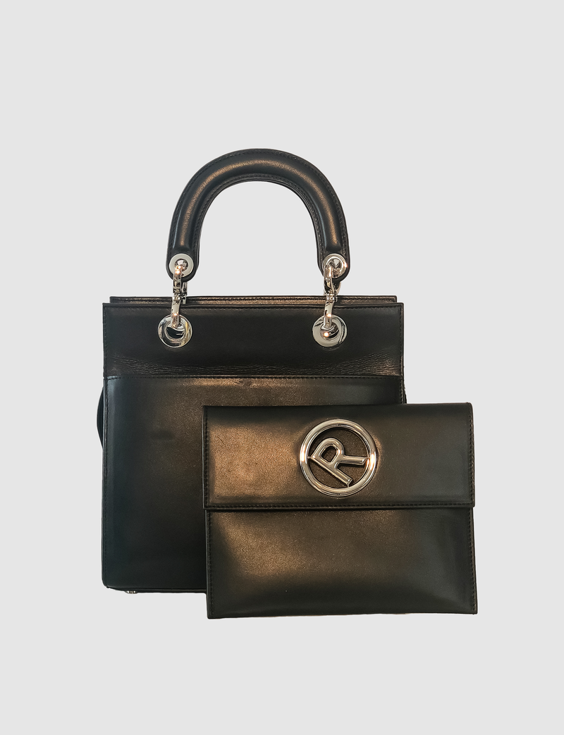leather medium sized bag