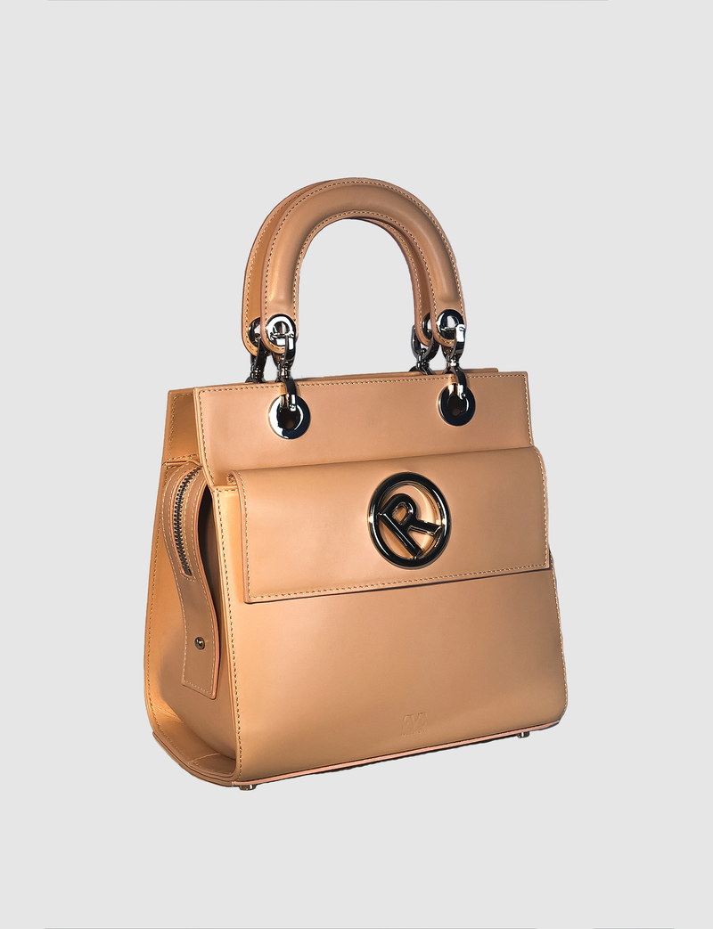 REBECA AMSTERDAM leather medium sized bag