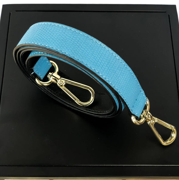 KATE Shoulder Strap Black + Blue