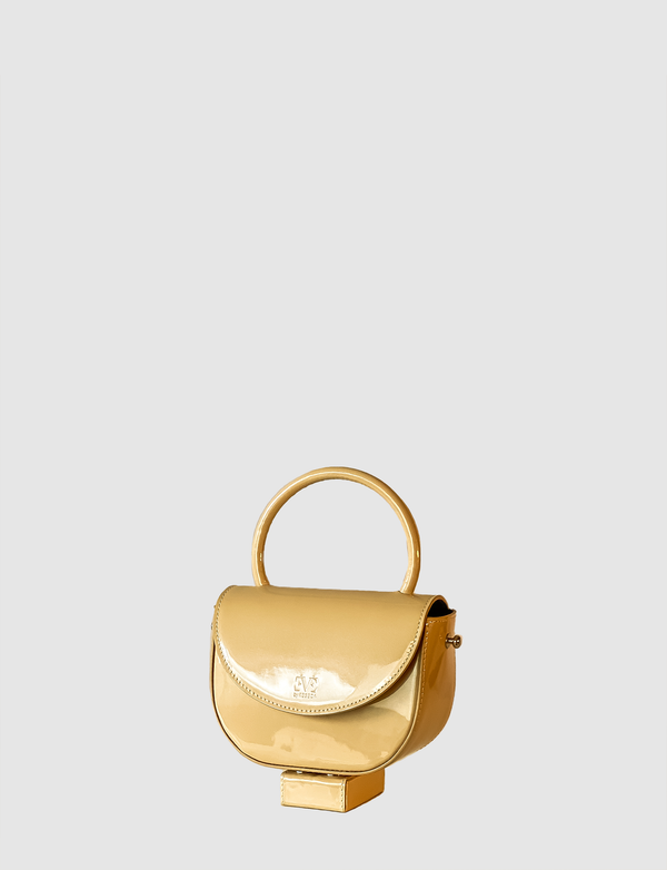 XOXO Beige leather mini bag