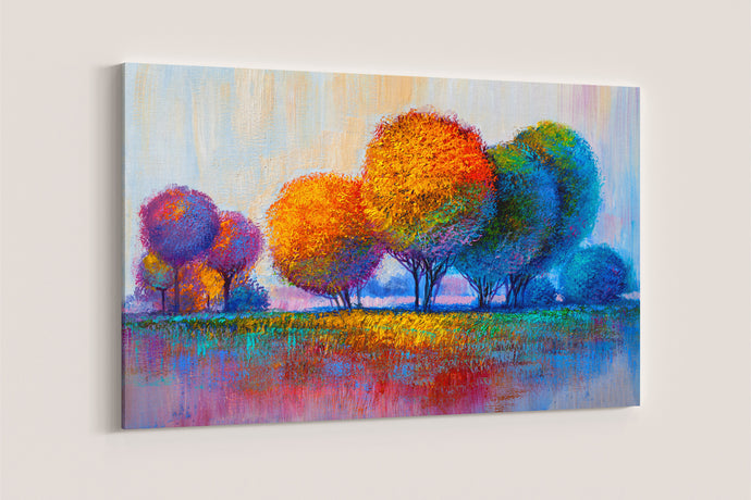 Colorful Trees Painting