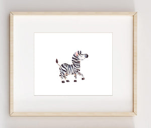 Zebra Nursery Wall Art