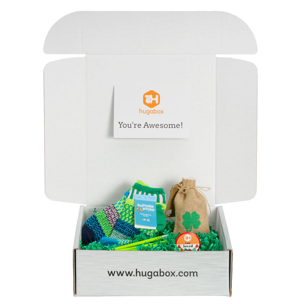 hugabox celebrating St. Patrick's Day