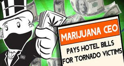 CEO of Medical Cannabis Company Pays Hotel Bills for Tornado Victims