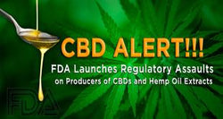 "FDA Launches ""Regulatory Assaults"" on Producers of CBDs and Hemp Oil Extracts"