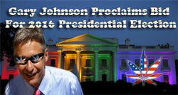 Gary Johnson Proclaims Bid For 2016 Presidential Election