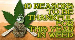 Legalized Marijuana is Just One Thing to Be Thankful for This Year