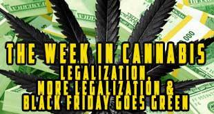The Week in Cannabis: Legalization, More Legalization and Black Friday Goes Green