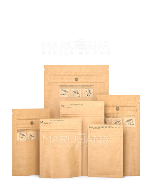 Kraft Mylar Smell Proof Bags