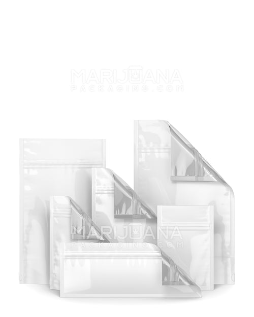 White/Clear Mylar Smell Proof Bags