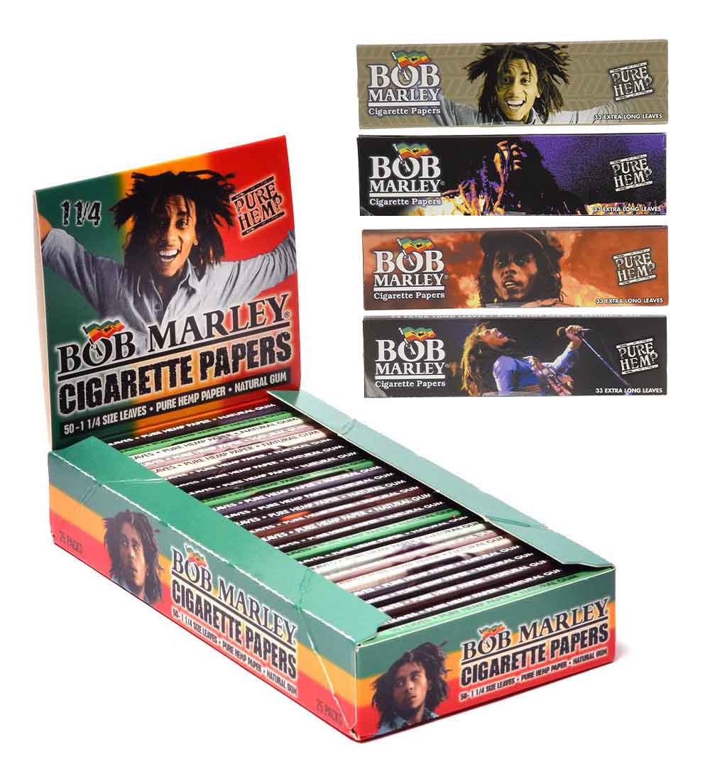 Bob Marley's Jovial Face Adorns Every Pack Of The Rolling Papers Named After Him