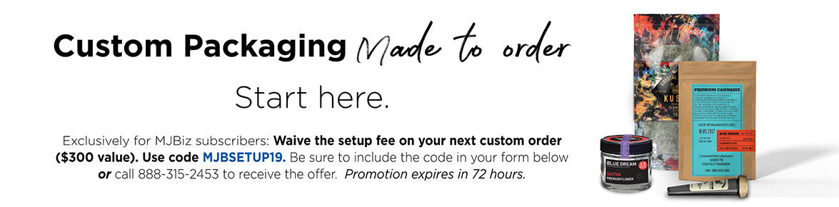 Custom Branding: Use code MJBSETUP19 on your next order to waive your setup fee. Expires in 72 hours!